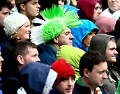 June 11th 2017, Dublin, Republic Ireland; 2018 World Cup qualifier, Republic of Ireland versus Austria;  An Irish supporter wearing a green wig