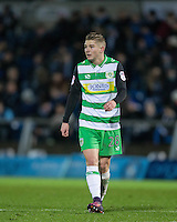 Ben Whitfield of Yeovil Town during the Sky Bet League 2 match between Wycombe Wanderers and Yeovil Town at Adams Park, High Wycombe, England on 14 January 2017. Photo by Andy Rowland / PRiME Media Images.