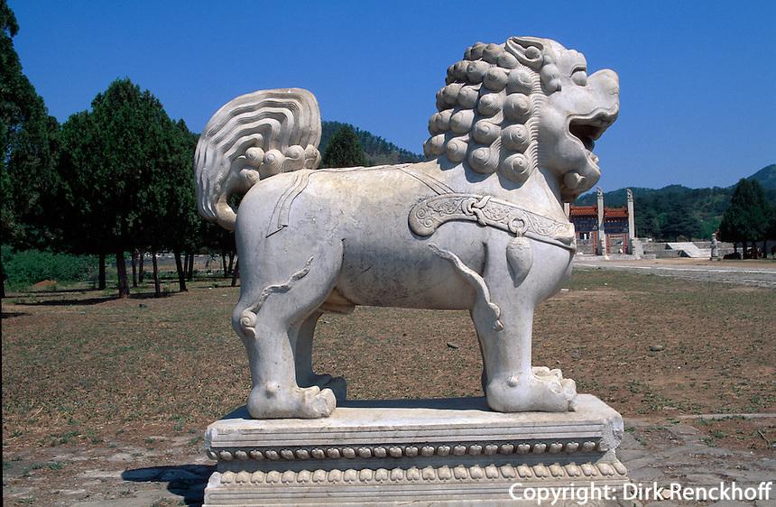 Grab Dingling, Geisterallee, östliche Qinggräber (qing dong  ling) bei Peking (Beijing), China, Unesco-Weltkulturerbe
