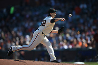 SAN FRANCISCO, CA - SEPTEMBER 17:  Cory Gearrin #62 of the San Francisco Giants pitches against the Arizona Diamondbacks during the game at AT&T Park on Sunday, September 17, 2017 in San Francisco, California. (Photo by Brad Mangin)