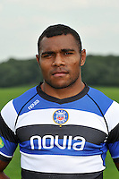 Semesa Rokoduguni poses for a portrait at the squad photocall. Bath Rugby Media Day on August 27, 2013 at Farleigh House in Bath, England. Photo by: Patrick Khachfe/Onside Images