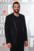 Craig David at the 2017 Brit Awards at the O2 Arena in London, UK. <br /> 22 February  2017<br /> Picture: Steve Vas/Featureflash/SilverHub 0208 004 5359 sales@silverhubmedia.com