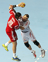 21.01.2013 Barcelona, Spain. IHF men's world championship, Eighth Final. Picture show Nagy  in action during game Hungary vs Poland at Palau St Jordi