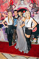 Erik Rosete, Bai Ling, and friends at Mister Triple X Presents Bunny Land Los Angeles Trunk Show & Fashion Party With Friends (Photo by Tiffany Chien/Guest Of A Guest)