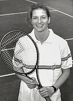 June 14, 1987, Netherlands, Dutch National Championships, Karin Moos (NED)<br /> Photo: Tennisimages/Henk Koster