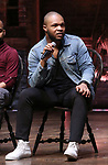 Sean Green Jr., during the eduHAM Q & A with the cast of Broadway's 'Hamilton' at The Richard Rodgers Theatre on April 25, 2018 in New York City.