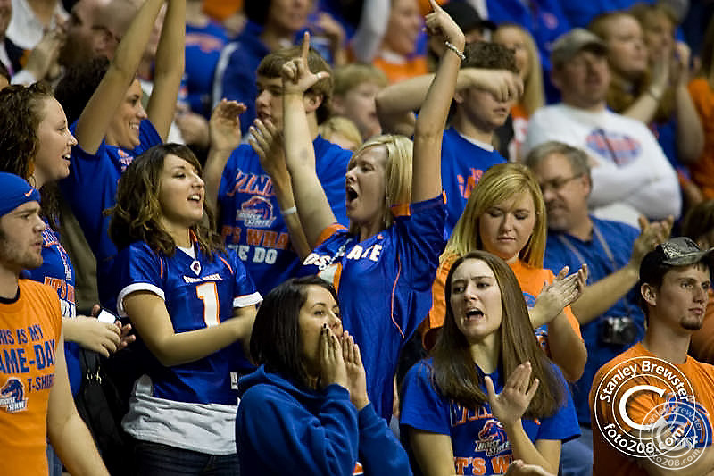 Photos of the Boise State football teams victoryover the Idaho Vandals in the Kibbie Dome in Moscoaw Idaho.