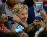 MIAMI, FL - OCTOBER 11: Democratic Presidential Candidate Hillary Clinton during a rally to discuss climate Change on October 11, 2016 in Miami, Florida. Credit: mpi04/MediaPunch