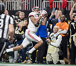 Alabama Crimson Tide wide receiver DeVonta Smith (6) catches the winning touchdown against the Georgia Bulldogs in overtime of the NCAA College Football Playoff National Championship at Mercedes-Benz Stadium on January 8, 2018 in Atlanta. Photo by Mark Wallheiser/UPI