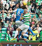Celtic v St Johnstone &hellip;26.08.17&hellip; Celtic Park&hellip; SPFL<br />Murray Davidson clashes heads with Aaron Comrie and Scott Brown<br />Picture by Graeme Hart.<br />Copyright Perthshire Picture Agency<br />Tel: 01738 623350  Mobile: 07990 594431