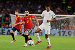 Spain's Jonny Castro and England's Marcus Rashford during UEFA Nations League 2019 match between Spain and England at Benito Villamarin stadium in Sevilla, Spain. October 15, 2018. (ALTERPHOTOS/A. Perez Meca)