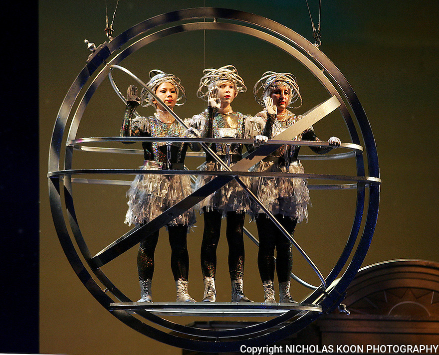 2008 - THE MAGIC FLUTE - Maria Christina Navarro, Dylan Kirkby, and Diana Tash as the Three Genies in Opera Pacific's The Magic Flute at the Orange County Performing Arts Center.