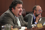 Nevada Assemblyman Richard Carrillo, D-Las Vegas, speaks in committee Friday morning, May 6, 2011, at the Legislature in Carson City, Nev..Photo by Cathleen Allison