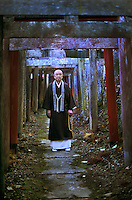 Shinto priest, Kyosan, japan, 2005