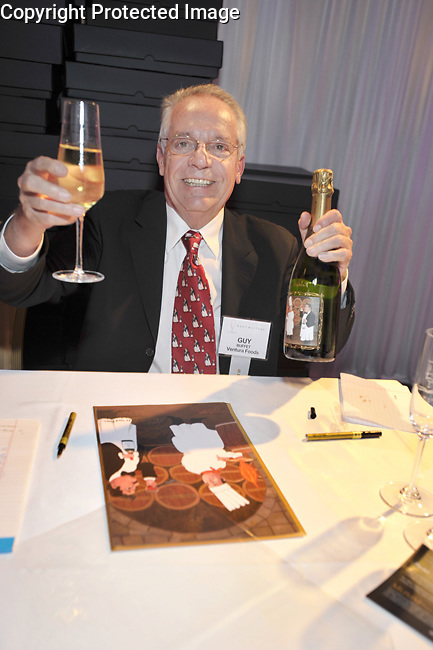 Guy celebrating at the 2010 MenuMasters event for Ventura Foods LLC in Chicago, IL