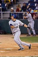 August 24, 2010: Tri-City Dust Devils' Mark Tracy (49) at-bat during a Northwest League game against the Everett AquaSox at Everett Memorial Stadium in Everett, Washington.
