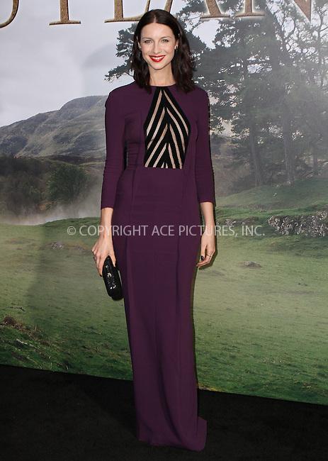 WWW.ACEPIXS.COM<br /> <br /> April 1 2015, New York City<br /> <br /> Actress Caitriona Balfe arriving at the 'Outlander' mid-season New York premiere at Ziegfeld Theater on April 1, 2015 in New York City.<br /> <br /> By Line: Nancy Rivera/ACE Pictures<br /> <br /> <br /> ACE Pictures, Inc.<br /> tel: 646 769 0430<br /> Email: info@acepixs.com<br /> www.acepixs.com