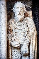 Sculpture on the main portal of St Paul, Basilica Church of Santa Maria Maggiore, Tuscania