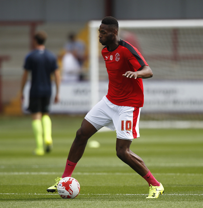 Fleetwood Town's Jamille Matt<br /> <br /> Photographer Mick Walker/CameraSport<br /> <br /> Football - The Football League Sky Bet League One - Fleetwood Town v Southend United - Saturday 8th August 2015 - Highbury Stadium - Fleetwood<br /> <br /> &copy; CameraSport - 43 Linden Ave. Countesthorpe. Leicester. England. LE8 5PG - Tel: +44 (0) 116 277 4147 - admin@camerasport.com - www.camerasport.com