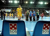 Handball Frauen / Damen  / women 1. Bundesliga - DHB - HC Leipzig : Frankfurter HC - im Bild: bedrückt nach der Niederlage - Louise Lyksborg . Foto: Norman Rembarz .