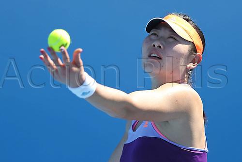 12.01.2014. Sydney, Australia. Australian Open Tennis Championships. World Tour, Grand Slam, Australian Open Duan Ying Ying CHN practising Before 2014 Australian Open