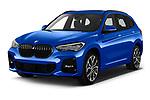 2020 BMW X1 M-Sport 5 Door SUV Angular Front automotive stock photos of front three quarter view
