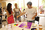 One Life To Live Shenaz Treasury and Bree Williamson watch her hubby Michael paint a giraffe at the Painting Party on May 15, 2011 on Marco Island, Florida - SWSL Soapfest Charity Weekend May 14 & !5, 2011 benefitting several children's charities including the Eimerman Center providing educational & outreach services for children for autism. see www.autismspeaks.org. (Photo by Sue Coflin/Max Photos)