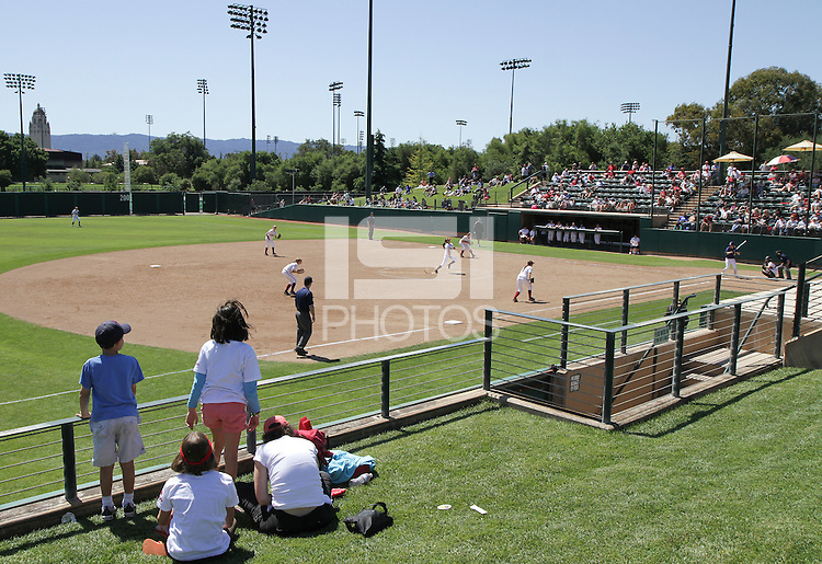 STANFORD, CA - April 30, 2011:  Little fans enjoy the Stanford game with Washington at Stanford, California on April 30, 2011.