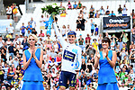 Simon Yates (GBR) Orica-Scott retains the White Jersey on the podium at the end of Stage 20 of the 104th edition of the Tour de France 2017, an individual time trial running 22.5km from Marseille to Marseille, France. 22nd July 2017.<br /> Picture: ASO/Alex Broadway | Cyclefile<br /> <br /> <br /> All photos usage must carry mandatory copyright credit (&copy; Cyclefile | ASO/Alex Broadway)