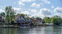 Maidenhead. Berkshire. United Kingdom. General view across the River towards Maidenhead RC Boathouse. 2017 Maidenhead Junior Regatta  River Thames. [©Peter SPURRIER/Intersport Images] Sunday. 14.05.2017
