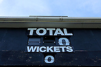 Detail view of the scoreboard ahead of Leicestershire CCC vs Essex CCC, Specsavers County Championship Division 2 Cricket at the Fischer County Ground, Grace Road on 23rd August 2016