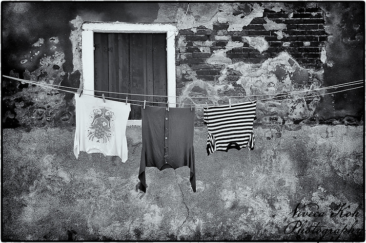 Laundry hanging out to dry