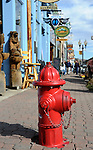 Red fire hydrant in downtown Idaho  Springs Colorado, US State of Colorado, Rocky Mountain region,  Rocky Mountain region, Coloradans, US State of Colorado, State of Colorado, Colorado, Rocky Mountain region, Southwestern Region of USA, Denver, Coloradan, Colorado, CO, CR, Colarado, Colo, Col, CAL, CLD, Photography history, Stock Photography, Fine Art Photography, Fine Art Photography by Ron Bennett, Fine Art, Fine Art photography, Art Photography, Copyright RonBennettPhotography.com ©