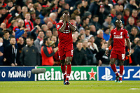 Naby Keita of Liverpool celebrates scoring his side's 1st goal during the UEFA Champions League Quarter Final first leg match between Liverpool and Porto at Anfield on April 9th 2019 in Liverpool, England. (Photo by Daniel Chesterton/phcimages.com)<br /> Foto PHC/Insidefoto <br /> ITALY ONLY