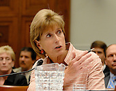 Washington, D.C. - June 25, 2007 -- Former Environmental Protection Agency (EPA) Administrator Christine Todd Whitman testifies before the United States House Constitution, Civil Rights, and Civil Liberties Subcommittee hearing on post 9/11 air quality in New York and the area surrounding the Twin Towers in Manhattan in Washington, D.C. on Monday, June 25, 2007.<br /> Credit: Ron Sachs / CNP<br /> (RESTRICTION: No New York or New Jersey newspapers or Newspapers within a 75 mile radius of New York City)
