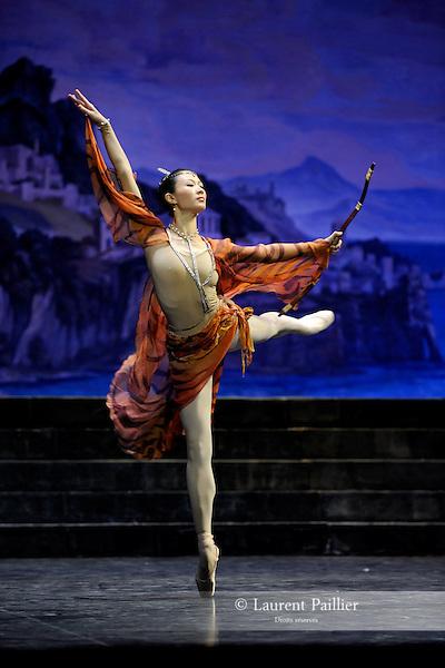 ZHU<br /> Zhu Yan dans &quot;Sylvia&quot; de Louis M&eacute;rante<br /> National Ballet of China &agrave; l'Op&eacute;ra Garnier de Paris le 09/01/2009
