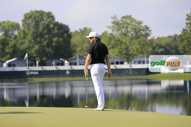 Tommy Fleetwood (ENG) on the 14th green during Thursday's Round 1 of the 2017 PGA Championship held at Quail Hollow Golf Club, Charlotte, North Carolina, USA. 10th August 2017.<br /> Picture: Eoin Clarke | Golffile<br /> <br /> <br /> All photos usage must carry mandatory copyright credit (&copy; Golffile | Eoin Clarke)
