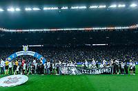 SÃO PAULO, SP, 04.08.2019 - CORINTHIANS-PALMEIRAS - Marina, criança da Campanha Quem Ama Cura antes da partida contra o Palmeiras em jogo válido pela décima terceira rodada do campeonato brasileiro 2019 na Arena Corinthians em São Paulo, neste domingo, 04. (Foto: Anderson Lira/Brazil Photo Press)