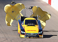 Feb 26, 2016; Chandler, AZ, USA; NHRA funny car driver Del Worsham during qualifying for the Carquest Nationals at Wild Horse Pass Motorsports Park. Mandatory Credit: Mark J. Rebilas-