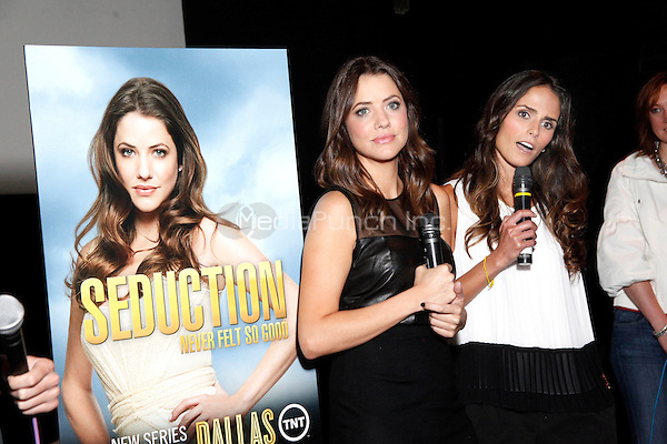Julie Gonzalo and Jordana Brewster pictured at a Q&A after a screening of the new Turner TV show Dallas at the Ritz East in Philadelphia, Pa on June 4, 2012  © Star Shooter / MediaPunchInc  ***EXCLUSIVE*** ***NO GERMANY*** ***NO AUSTRIA***