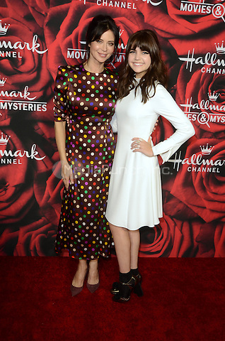 PASADENA. CA - JANUARY 14: Catherine Bell, Bailee Madison at the Hallmark Winter 2017 TCA Event at Tournament House in Pasadena, California on January 14, 2017. Credit: David Edwards/MediaPunch