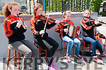 FOR FEALE PAGE <br /> <br /> <br /> Busking : Memnbers of the Finuge/St Senan's ladies football club busking to fund faise for their team in the Square, Listowel on Sunday last. L-R: Katelyn Stack, Andrea Stack, Ciara &amp; Aideen O'Sullivan.