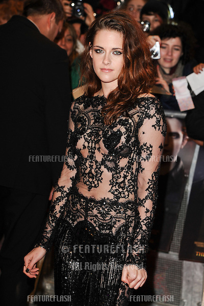 "Kristen Stewart arriving for the ""The Twilight Saga: Breaking Dawn Part 2"" premiere at the Odeon Leicester Square, London. 14/11/2012 Picture by: Steve Vas / Featureflash"