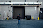 Eric Overmyer poses for a portrait at the Red Studios lot where the television show Bosch is filmed in Los Angeles, California January 10, 2016.