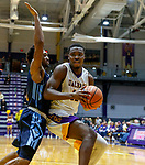 University at Albany men's basketball defeats Maine at the  SEFCU Arena, Feb. 24, 2018. Devonte Campbell (#12). (Bruce Dudek / Eclipse Sportswire)