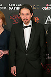 Podemos politician Pablo Iglesias attends 30th Goya Awards red carpet in Madrid, Spain. February 06, 2016. (ALTERPHOTOS/Victor Blanco)