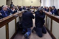 Roma,19 Aprile 2017.<br /> Monica Maggioni e Roberto Fico<br />  La Commissione parlamentare per l'indirizzo generale e la vigilanza dei servizi radiotelevisivi, svolge l'audizione della presidente RAI, Monica Maggioni,