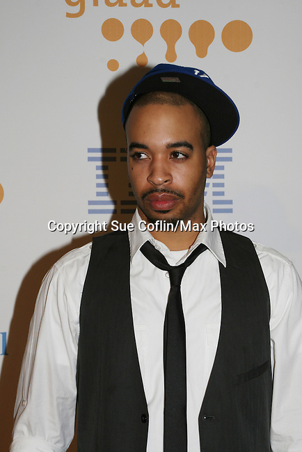 Bleu Magazine Publisher De'Von Christopher at the 20th Annual GLAAD Media Awards on March 28, 2009 at the New York Marriott, New York City, NY. (Photo by Sue Coflin/Max Photos)