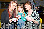 SUPPORTING: Tracey Stack,Taylor Stack-Shanahan and Mary O'Callaghan (Tralee) supporting the 100 minds project of students who are trying to raise €100,000 for the Temple Street Children Hospital on Sunday at the Cake Sale in St Mary & Brendan Parish Centre.
