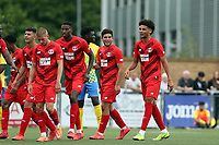 Lee Angol of Leyton Orient celebrates scoring the fourth goal during Harlow Town vs Leyton Orient, Friendly Match Football at The Harlow Arena on 6th July 2019